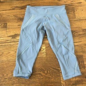 lulu lemon cropped mesh panel leggings
